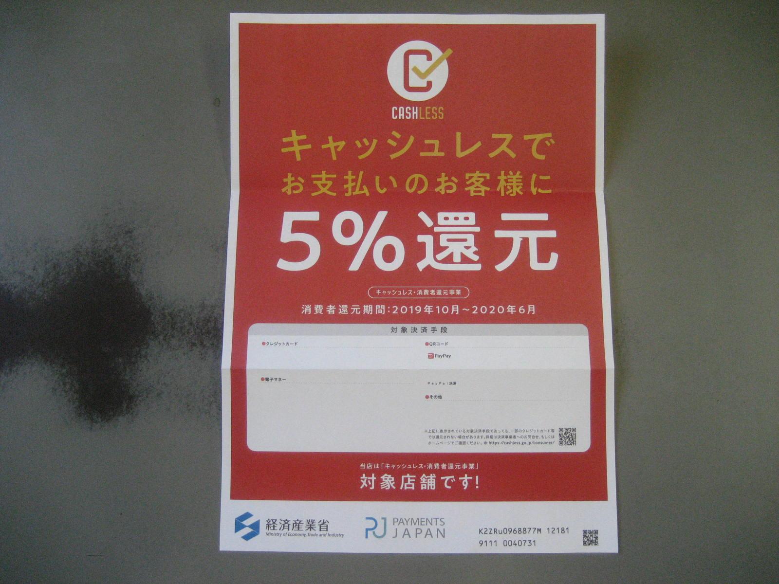 paypal消費税還元5%